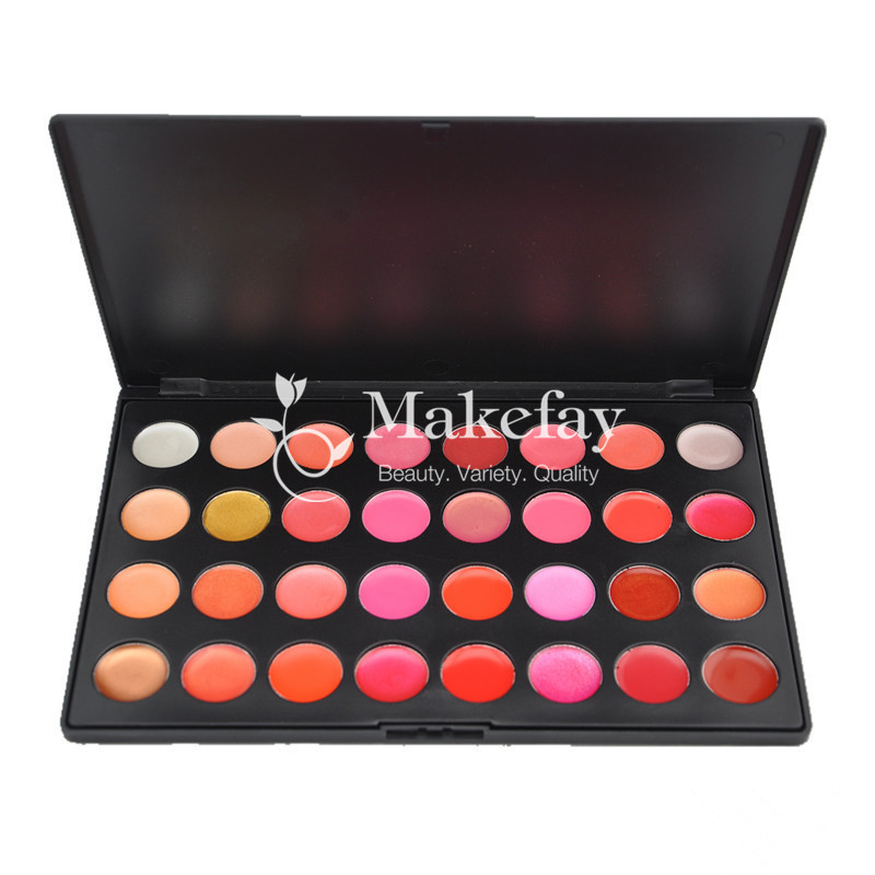 Newest fashion 32 color makeup lipgloss cheap lip gloss palette