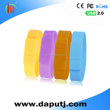 Bracelet usb flash drive, silicone wrist usb, hand band usb flash drive 512GB 3.0