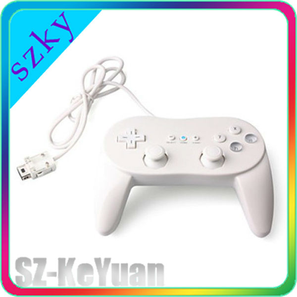 High quality White Classic Controller for Wii Pro
