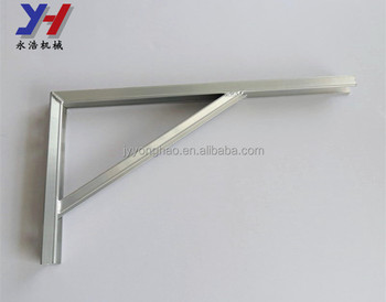 OEM ODM factory manufacture CNC bending 90 degree aluminum bracket with screw holes as your drawing