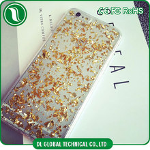 luxury phone case for iphone 6 plus 5.5 inch with gold foil Soft tpu mobile cover DLPC255