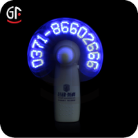 2015 Hot Sale Factory Wholesale Cooler Promotional Gift LED Printable Hand Fan