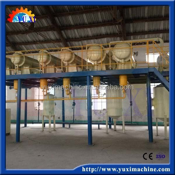 Fully continuous Waste tire/plastic pyrolysis plant for fuel oil