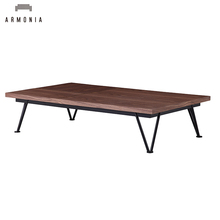 High Quality Modern Style Wooden Brass Base High Coffee Table