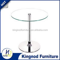2 seaters Production Monitoring/SS base glass dining table