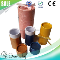 Beauchy New design Colorful paper tube cosmetic packaging, cardboard toner bottle tube essential oil packaging box cylinder