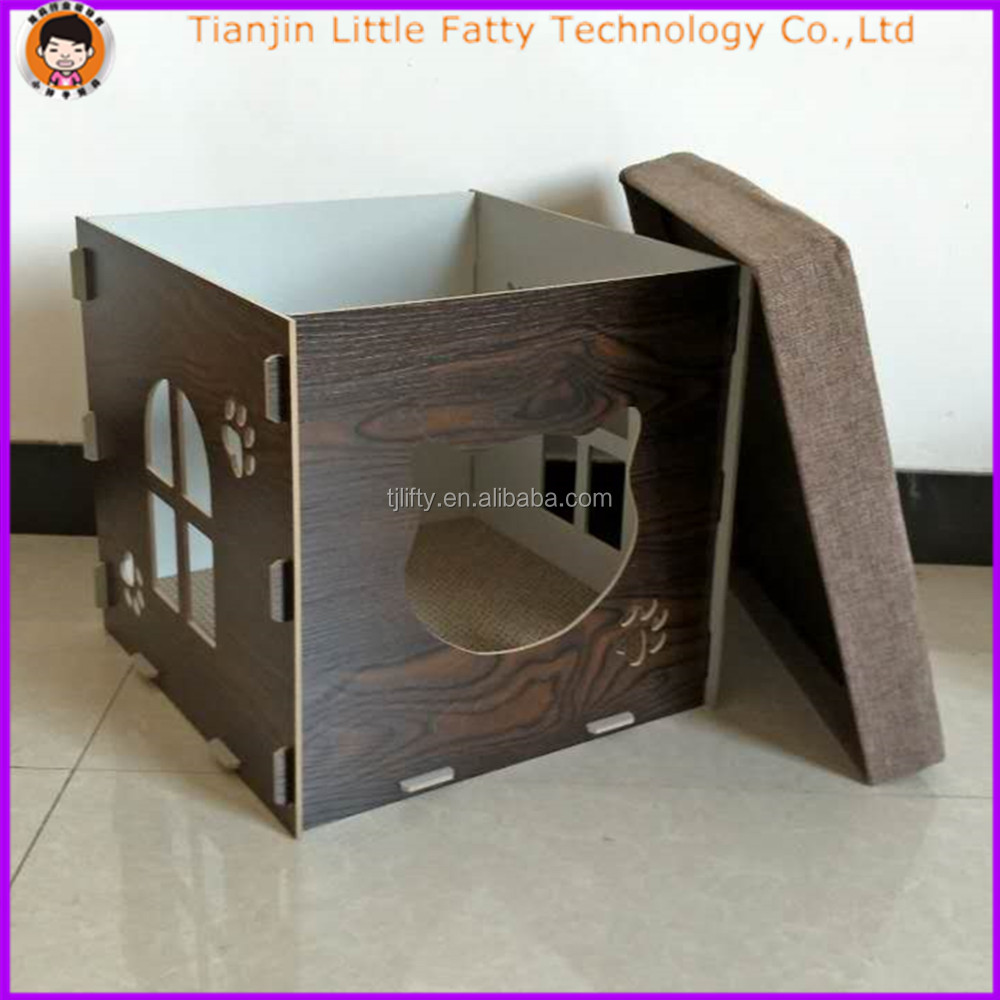 45cm pet cages wooden cat house
