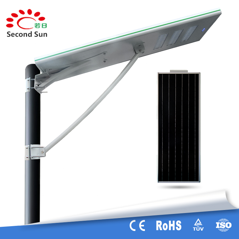 All in one solar power led motion sensor street lamp integrated solar street lights 60w