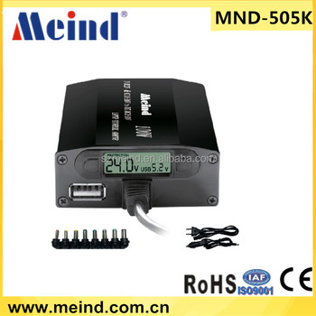 Meind 505K 100w/120w power adaptor Universal laptop adaptor with LCD for car and home use