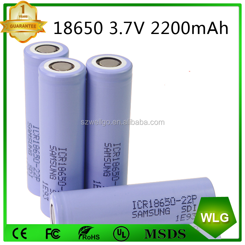 Samsung ICR 22P 2200mah li-ion battery 3.7v rechargeable battery Cell 18650