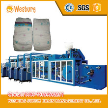 High quality semi automatic used baby diaper machine korea