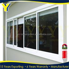 High quality sound-proof aluminium frame glass reception sliding window designs