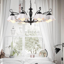 ceiling lamp with ceramic shande living room iron chandelier