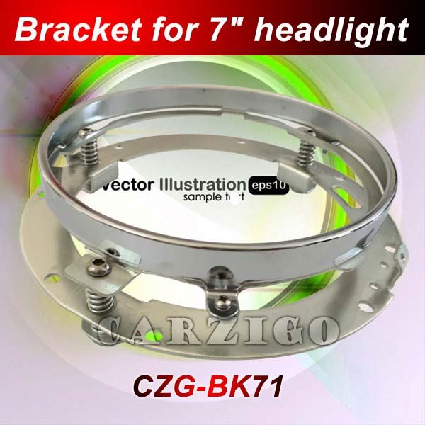 for motorcycles chromed(silver) color wholesale price Best quality 7inch round stainless steel bracket