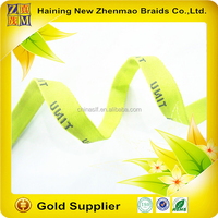 direct manufacturer jacquard ribbon with custom logo for clothing