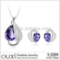 OUXI fashion crystal jewellery set OUXI Jewelry S-20109