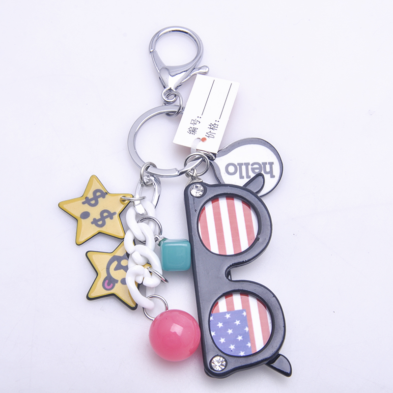 Good quality cheap sungalss shaped cute mini mobile phone 3d keychain