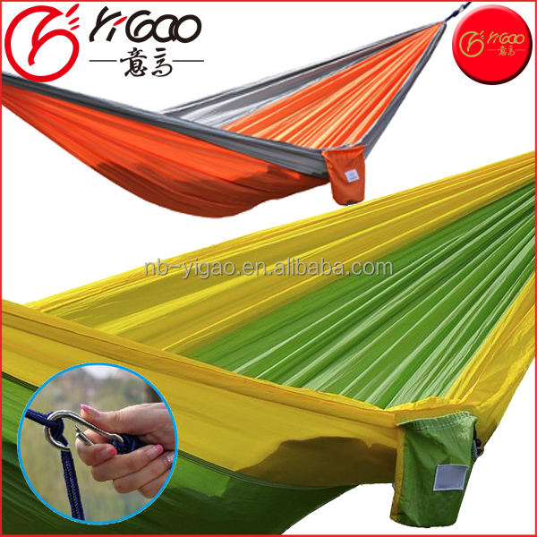Cheap new Portable Parachute Nylon Fabric Travel Camping Hammock