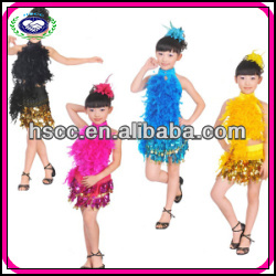 Manufacturer Feather Kids Ballroom Dancing Dresses China
