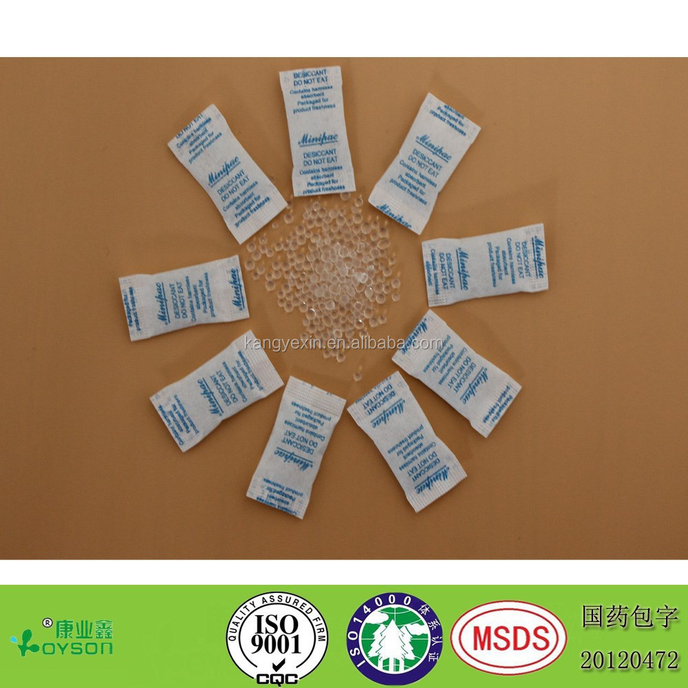 0.5g silica gel desiccant pharmaceutical use super dry desiccant for shoes/clothes/medicine