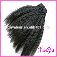 Top quality 6A grade Peruvian hair coarse kinky straight yaki hair extension