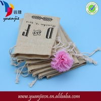 Reusable Drawstring Soap Jute Pouch For Packing