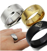 Top Quality Popular Titanium Ring SuperMen Ring stainless steel ring