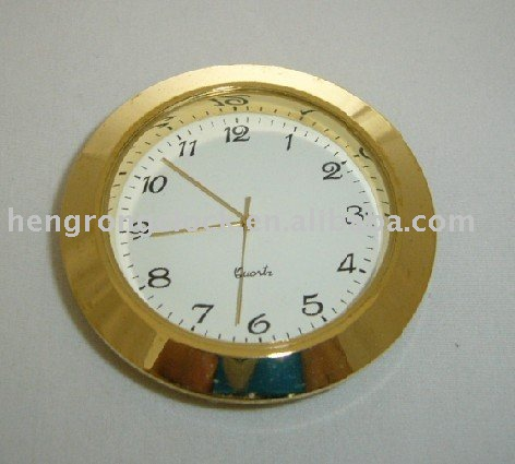 metal mini gift desk 50mm quartz clock insert japan movement watch bezel insert