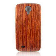 High quality hard back cover, real wood phone case, PC bottom wooden case for Samsung S4