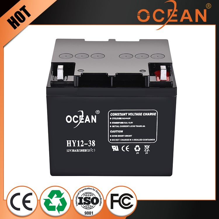 Most popular recyclability 12V 38ah dry cell battery ups