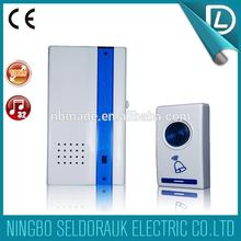 Rich experience in OEM voice 100m cordless remote control 230v two receiver doorbell