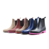Matt or shinny waterproof comfortable chelsea style PVC rain boot shoes for women with elastic band ankle height