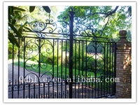Automated antique wrought iron gate beautiful design for home