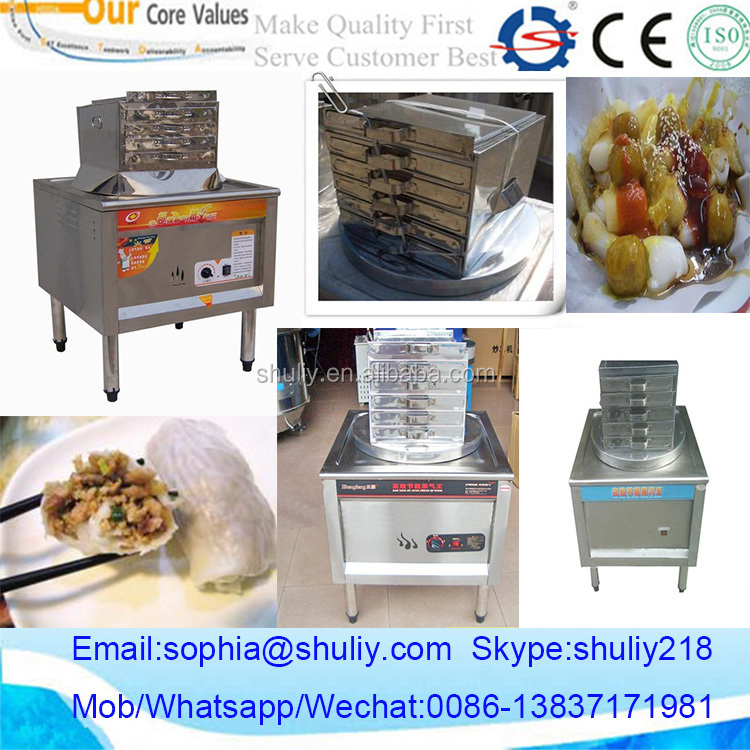 China Supplier Gas Heating Steamed Rice Roll Machine 0086-13837171981