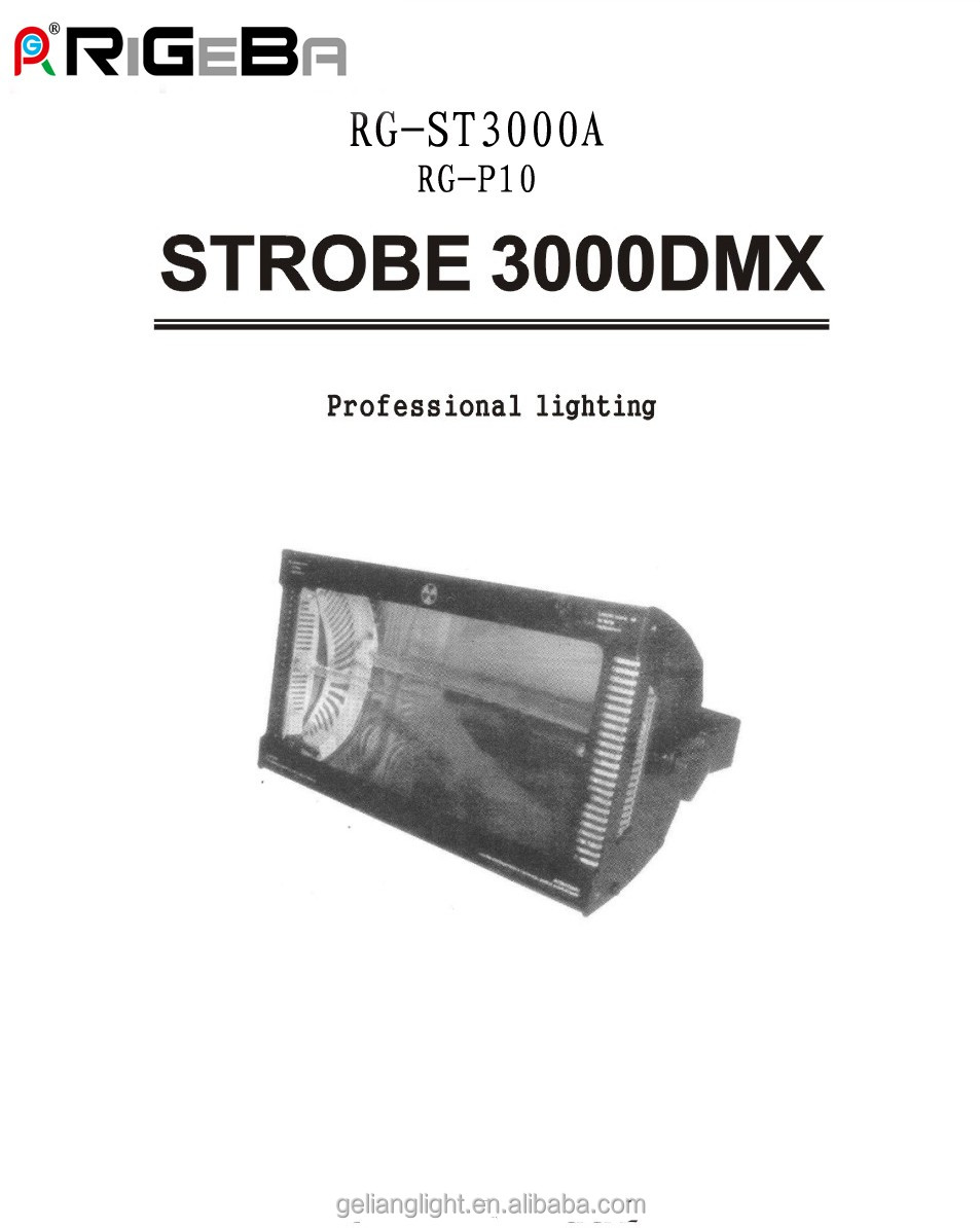 3000W atomic strobe martin dmx controller stage lighting