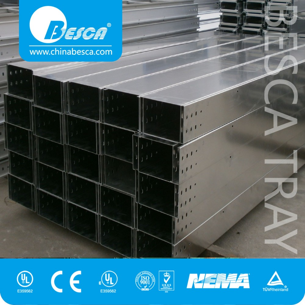 Outdoor GI Galvanized Steel Stainless Steel Pre-galvanized Cable Trunking with Cover Standard Size