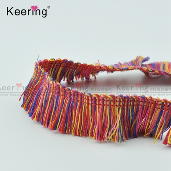 mixcolor cotton wholesale tassel fringe trimming WTPB-048