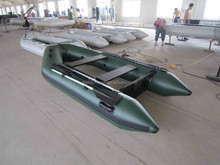 PVC Hull Material and CE Certification Inflatable Boat with Outboard Motor