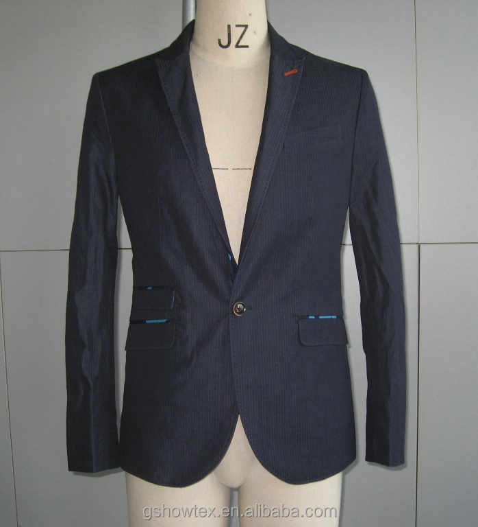 2016 Denim men blazer suit