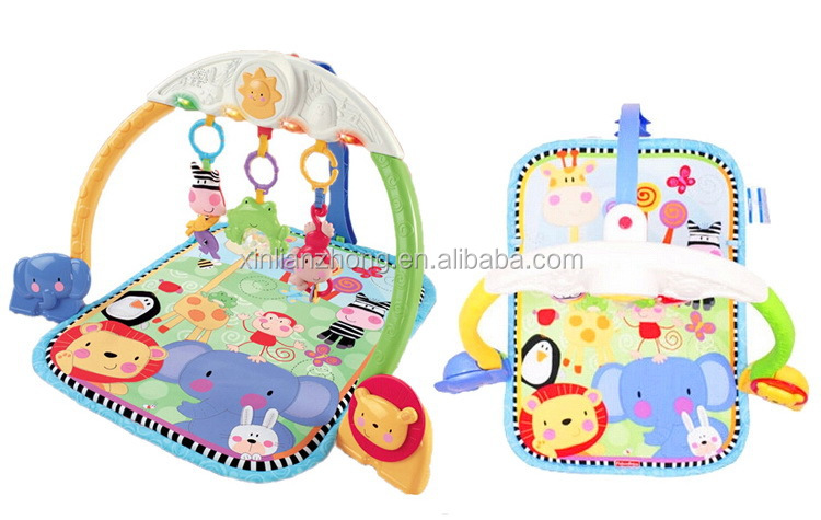 Hot Sale Tracking lights Musical Gym Multi-function Play Mat for Baby