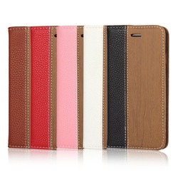 wood style flip case cover for iPhone6S,PU leather mobile phone case back cover for iPhone6S plus,wallet card holder stand case