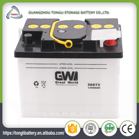 automobile car battery brand names 12v 60ah dry charged battery