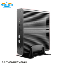 Partaker B2 Mini ITX Size Black Desktop Computer With Intel Quad Core I7 5500U