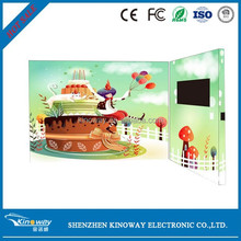 2.4,2.8,4.3,5,7,10.1inch electronic TFT lcd screen video greeting card business invitation video card