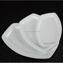 Cheap wholesale ceramic white porcelain rectangular plate for restaurant and hotels