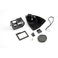 Black CNC aluminum alloy GoPros 5 case with lens cap suits with a high quality bag