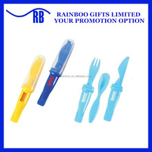 Hot selling disposable plastic fork spoon knife in one for promotion ABTM138