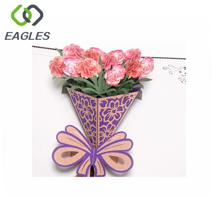 Beautiful Handmade Flowers 3d Greeting Card Fairy Pop Up Greeting Card