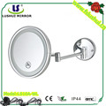2016 popular bathroom magnifying mirror with light