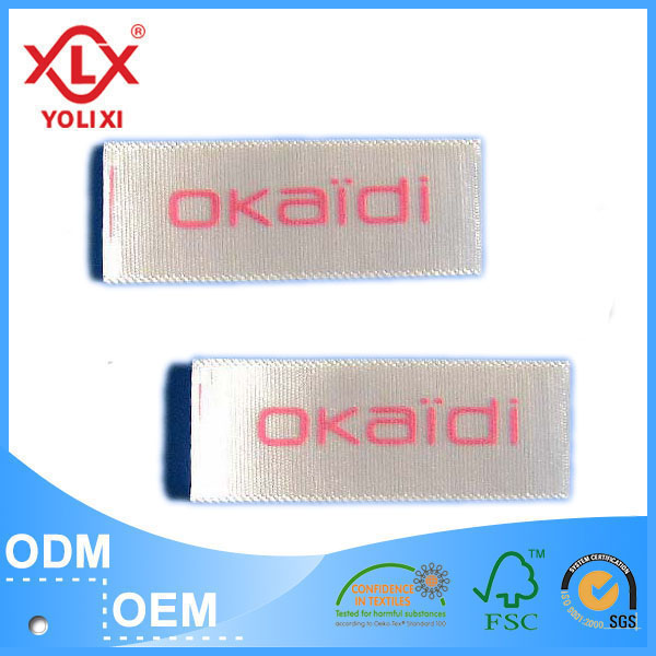 Single face woven edge PS printed clothing label manufacturer
